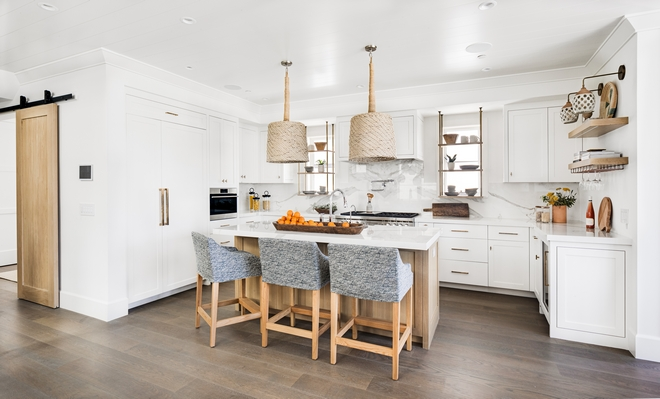 """Shiplap ceiling kitchen Ceilings are clad in 7"""" paint grade Shiplap with nickel gap"""