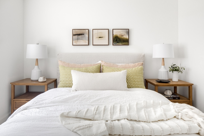 Artwork above bed Art over bed ideas