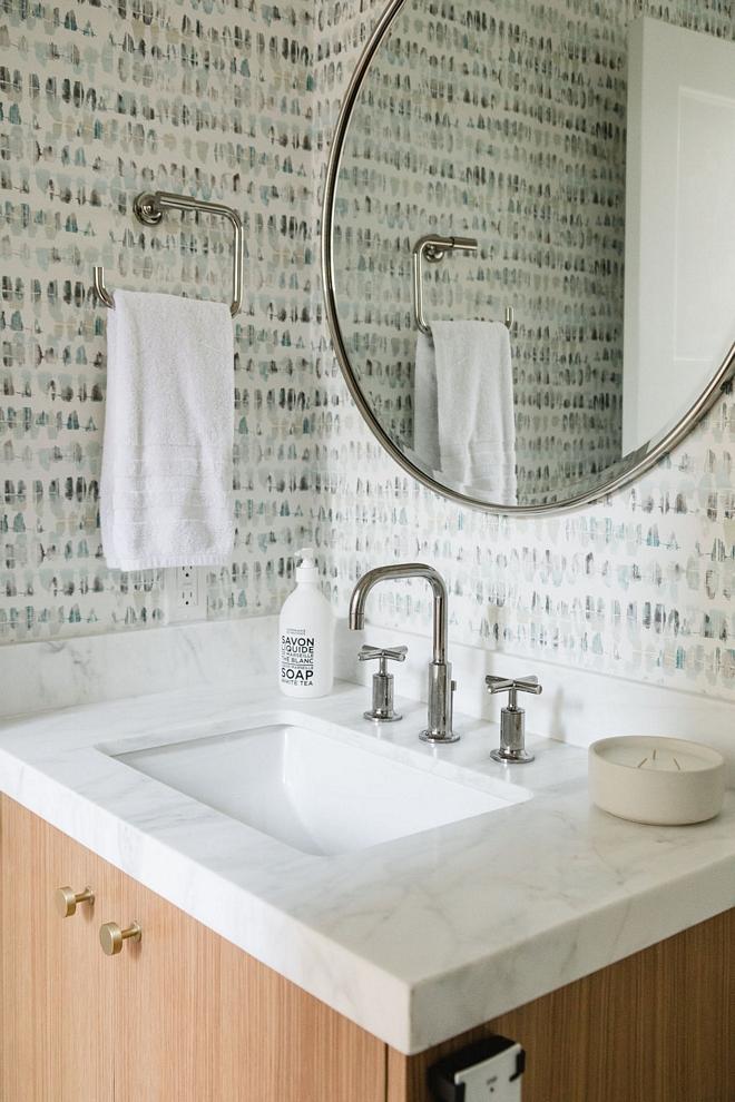 Oak-Bathroom-Vanity-with-White-Marble-Countertop