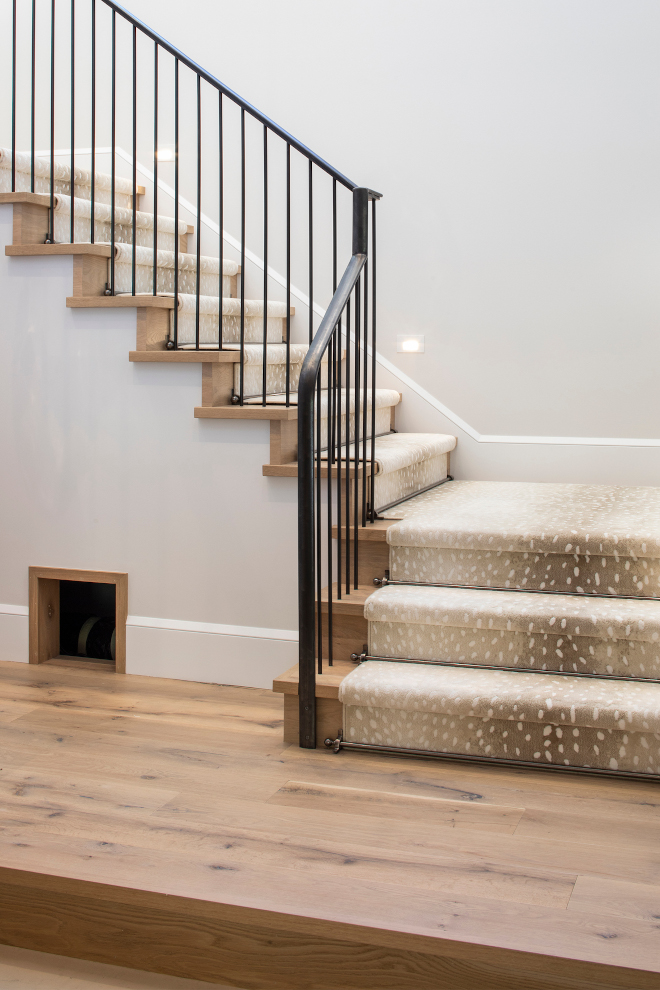 Antelope Stair Runner White Oak Stair with Antelope Stair Runner A custom antelope runner adds a touch of elegance to the White Oak staircase with iron railing Antelope Stair Runner Antelope Stair Runner Antelope Stair Runner #StairRunner #AntelopeStairRunner #Anteloperunner #Stair #Runner