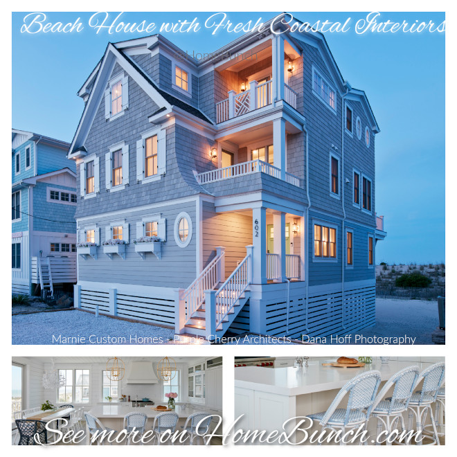 Beach House with Fresh Coastal Interiors