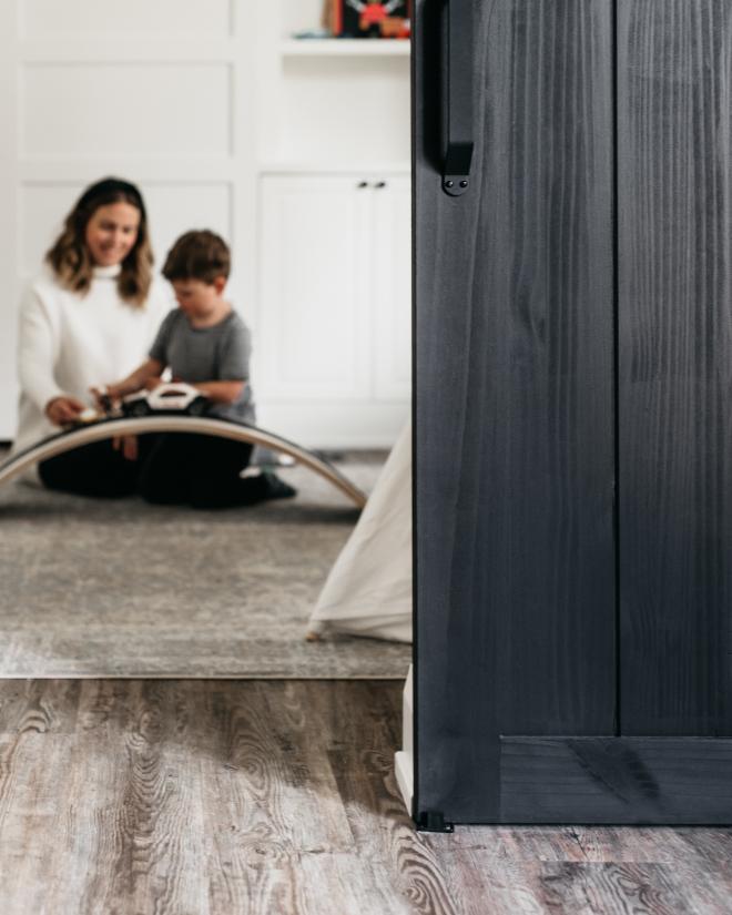 Black Barn Doors Paint Color