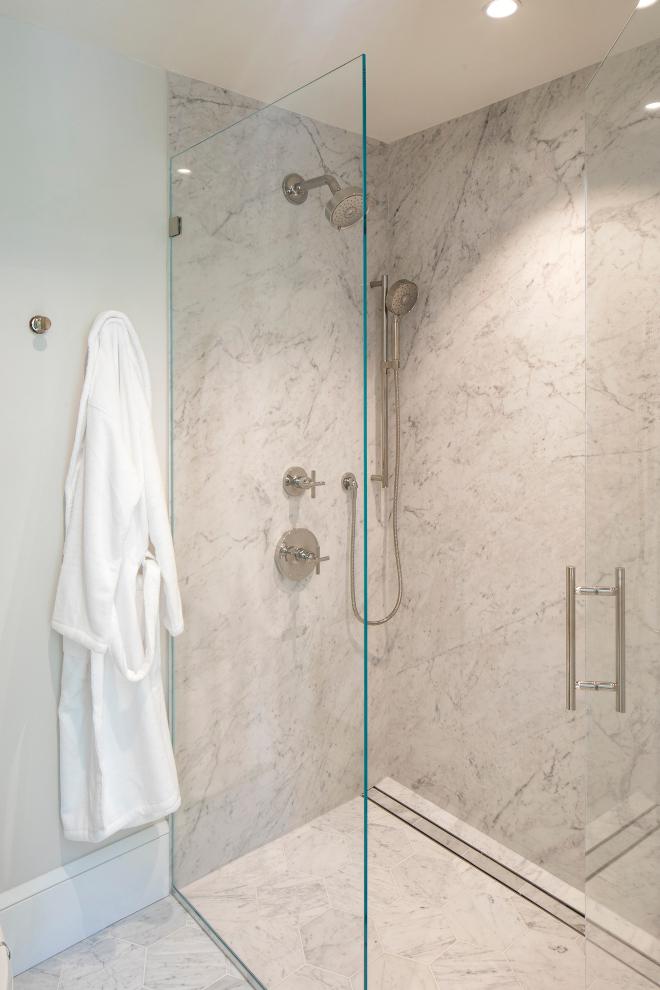 Carrara Marble Slab Honed Marble Shower Wall Carrara Marble Slab Honed Marble Shower Wall Carrara Marble Slab Honed Marble Shower Wall #CarraraMarble #Slabshower #HonedMarbleShower #ShowerWall #shower