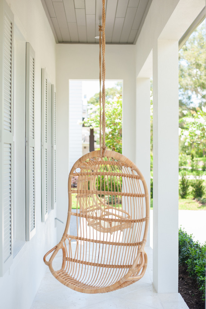 Porch featuring Hanging Chairs and tongue and groove porch ceiling in Benjamin Moore HC-168 Chelsea Gray Porch featuring Hanging Chairs and tongue and groove porch ceiling in Benjamin Moore HC-168 Chelsea Gray Porch featuring Hanging Chairs and tongue and groove porch ceiling in Benjamin Moore HC-168 Chelsea Gray #Porch #HangingChairs #porchhangingchair #tongueandgroove #porchceiling #BenjaminMooreHC168ChelseaGray #BenjaminMooreChelseaGray #BenjaminMooreHC168 #BenjaminMoore