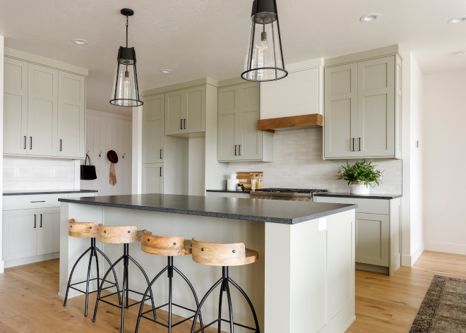 Sherwin-Williams-Chatroom-Gray-Kitchen-Gray-wih-green-undertones-gray-paint-color