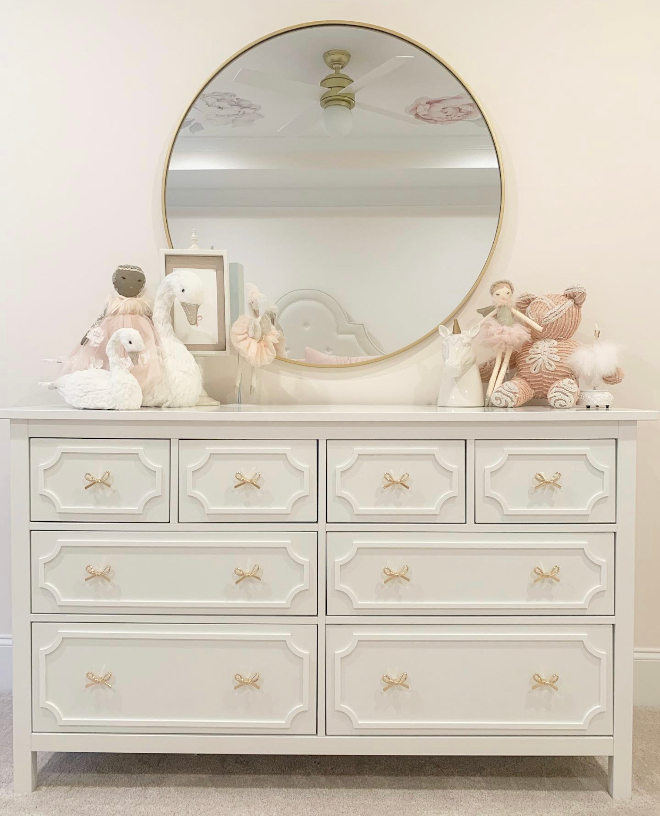 This dresser is one of my all time favorite DIY dupes I did of a Pottery Barn dresser using an IKEA dresser #ikea #potterybarn #furnituredupes
