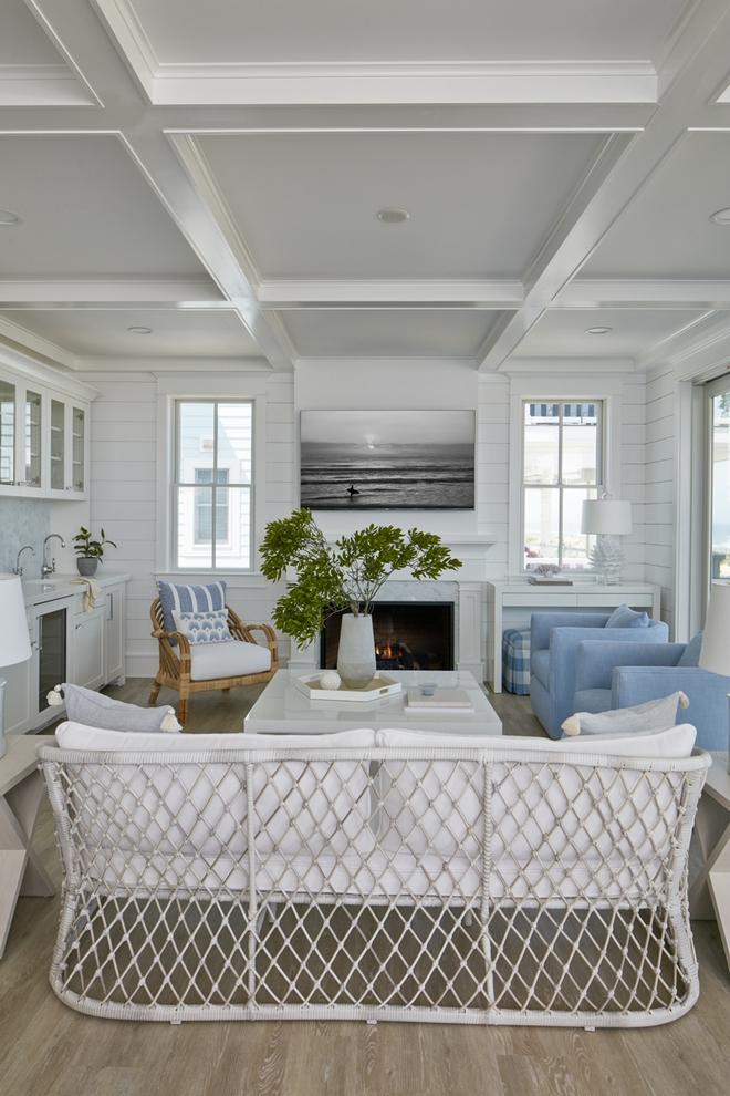 Parkwood Swivel Chair - Perennials Coastal Blue Basketweave