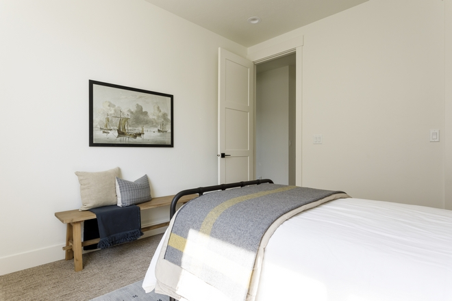 White Bedroom Paint color Sherwin Williams SW 7008 Alabaster