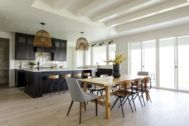 Black kitchen Living Rom opens into a large dining area and black kitchen with sliding patio doors Black kitchen Black kitchen Black kitchen Black kitchen Black kitchen #Blackkitchen