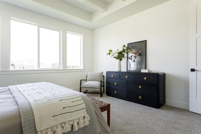 Black Dresser Bedroom with Black dresser with brass hardware #blackdresser