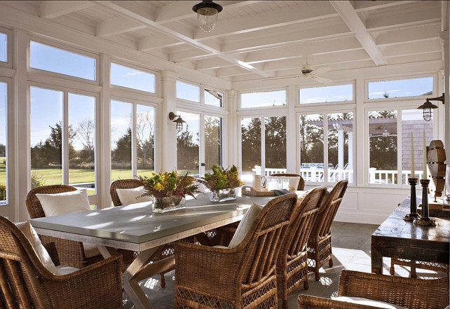 Sunroom. Great sunroom/screened porch design ideas. #Sunroom