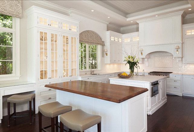Beautiful White Traditional Inset Kitchen Cabinetry