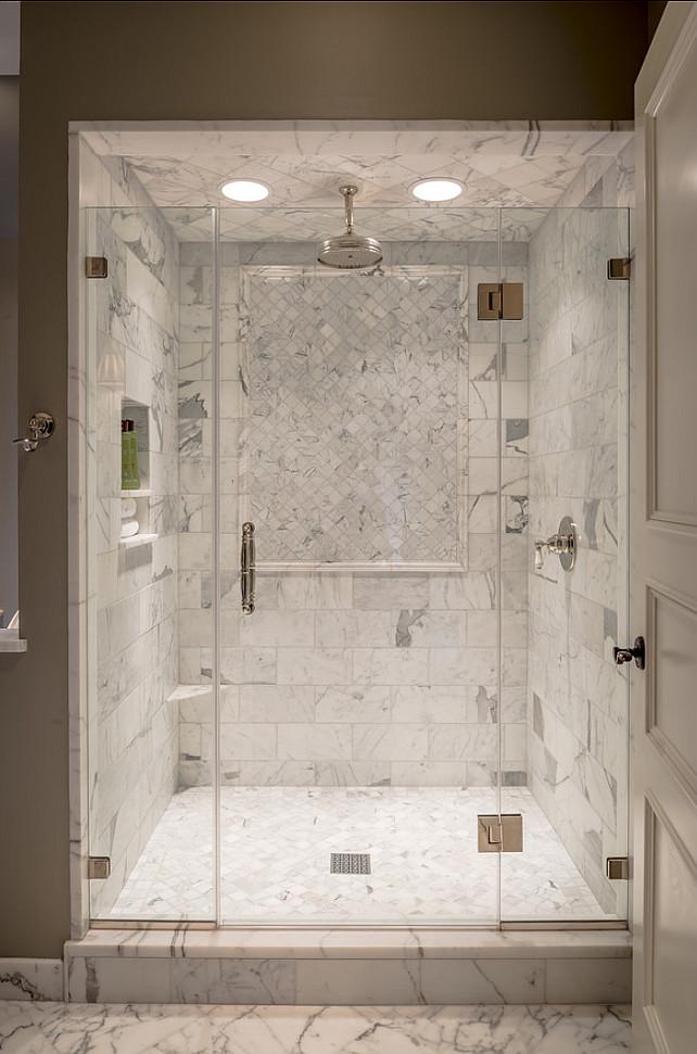 Bathroom Shower Design. Beautiful Marble Shower. #Bathroom #Shower #Marble