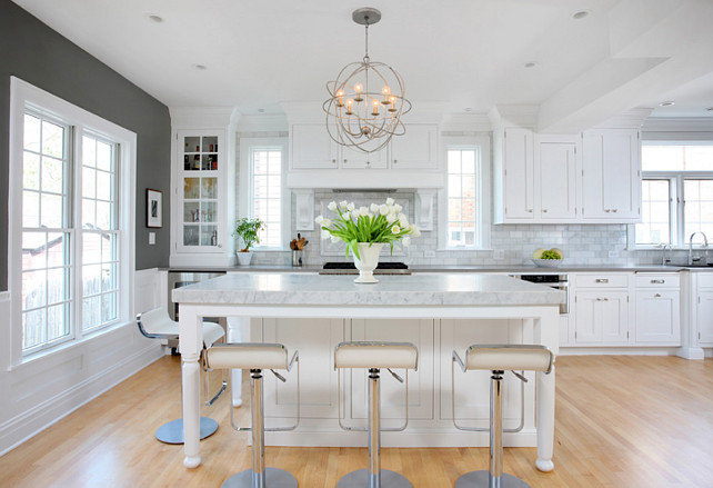 White and Gray Kitchen. Modern White and Gray Kitchen Design. #White #Gray #Kitchen