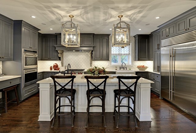 Kitchen. Charcoal Transitional Kitchen. Charcoal Kitchen Lighting. Charcoal Kitchen Cabinet. Charcoal Kitchen Island. Charcoal Kitchen Barstools. Charcoal Kitchen Backsplash #CharcoalKitchen #Kitchen #Transitional