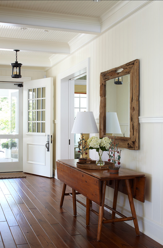 Farmhouse Foyer Mirror : Harbor springs lake cottage home bunch interior design ideas