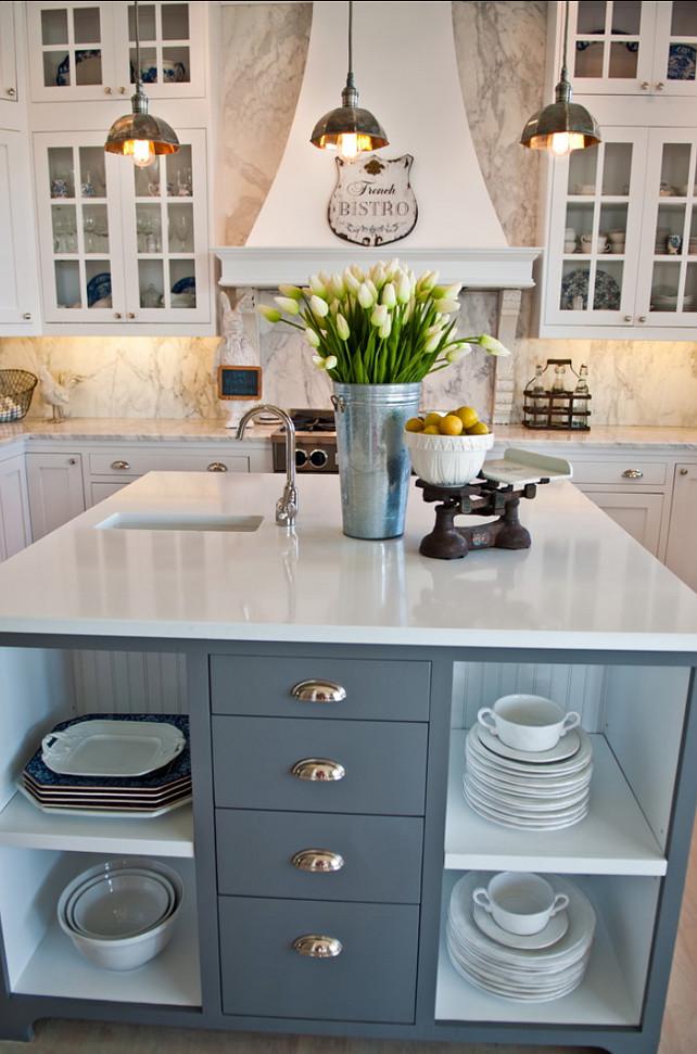 French White Kitchen Design - Home Bunch Interior Design Ideas