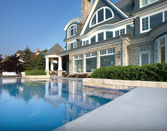 Pool Design Ideas. Beautiful Pool Design with waterviews. #Pool #PoolDesign
