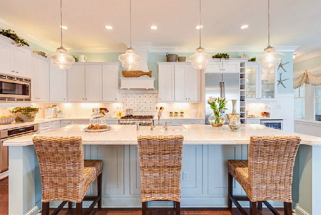 Coastal Kitchen. Coastal Kitchen Paint Color. Coastal Kitchen Layout. Coastal Kitchen Decor. Coastal Kitchen Design. Coastal Kitchen Color Palette. Coastal Kitchen Ideas. #CoastalKitchen  2015 Coastal Virginia Magazine Idea House