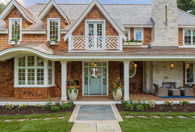 Shingle Home Window and Door Ideas. Shingle Home Windows and Doors. Shingle Home Window and Door Design Ideas. The Windows and Doors of this Shingle Home are by Marvin Windows. #ShingleHomes #Window #Door #MarvinWindows Great Neighborhood Homes.