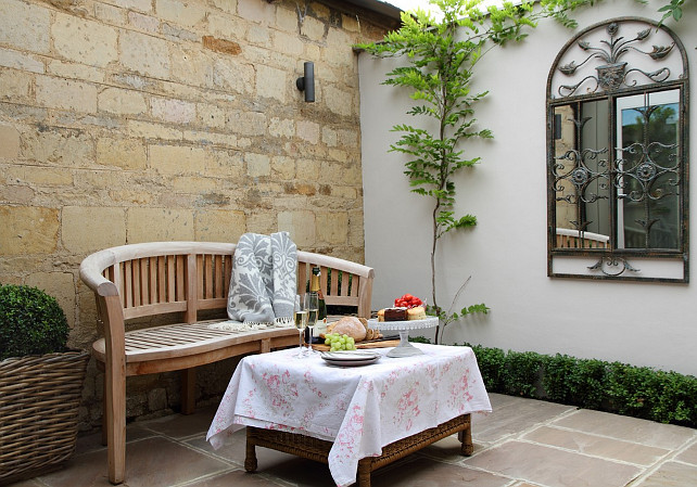 French inspired cottage a guest post home bunch for French country courtyard
