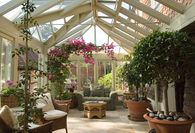 Make use of your conservatory all year round home bunch for Conservatory interior designs