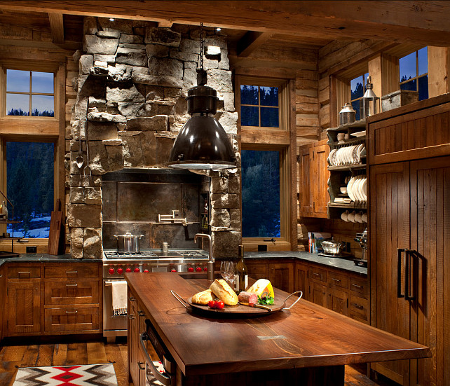 Rustic ski lodge home bunch interior design ideas for Looking for kitchen designs
