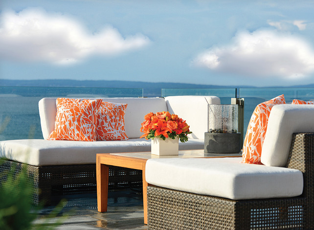 Patio Decor Ideas. Great patio furniture! #Patio #PatioDecor #PatioIdeas #PatioFurniture
