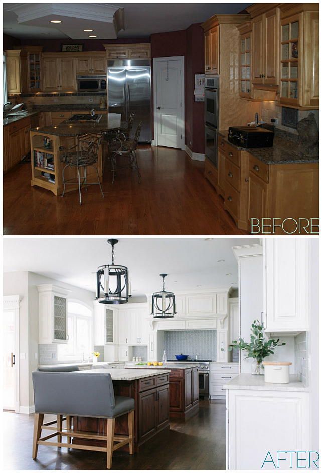 backsplash pictures for kitchens before and after island kitchen renovation home 4274