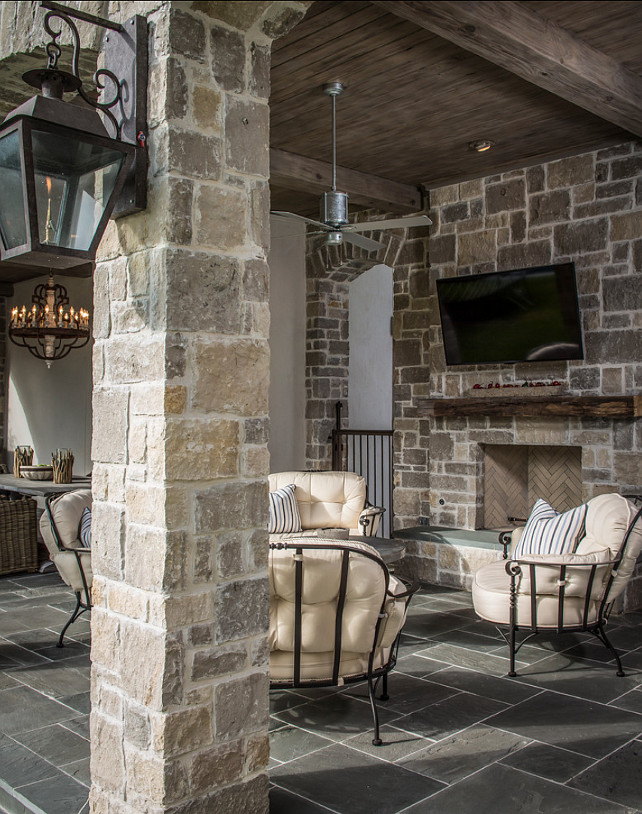 Rustic french interiors home bunch interior design ideas for Bluestone flooring interior