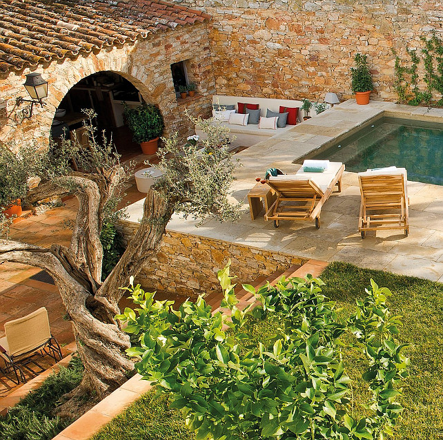 Romantic Stone Cottage. This Romantic Stone Cottage is located in Spain. #Cottage #Spain