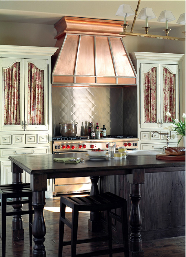 Kitchen. This French Kitchen is a ten from top to bottom! In fact, the entire house is amazing. I am linking directly to the post, so you can see the rest. #Kitchen #KItchenDesign
