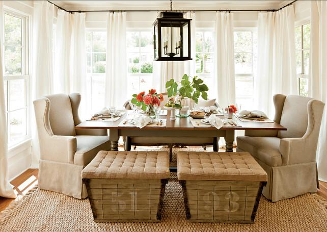 Dining Room. Rustic, casual dining room design. #DiningRoom