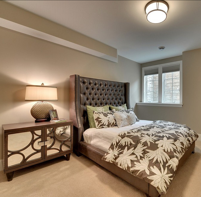 basement guest bedroom im not sure about the decor here but i like the high ceilings - Guest Bedroom Design