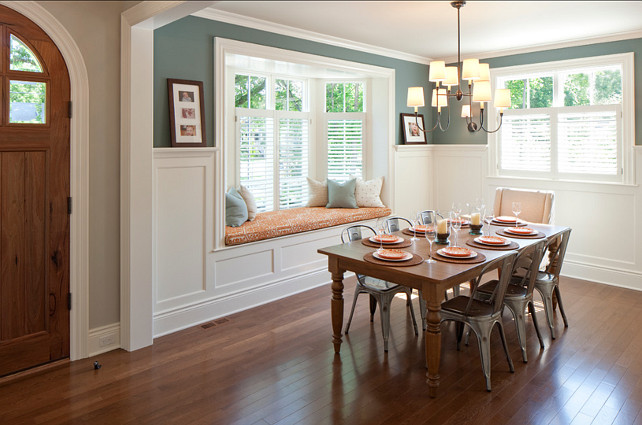 family home with smart interiors home bunch interior bow window treatments dining room window treatments