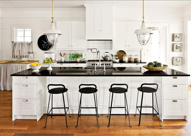 Kitchen. Causal white kitchen design with Ikea cabinets. #KitchenDesign #WhiteKitchen #IkeaKitchen