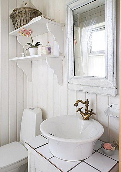 Depósito Santa Mariah Doce Cottage na Noruega -> Banheiro Pequeno Feminino