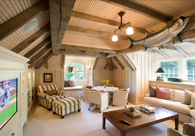 Man Cave Above Garage : Traditional home bunch interior design ideas