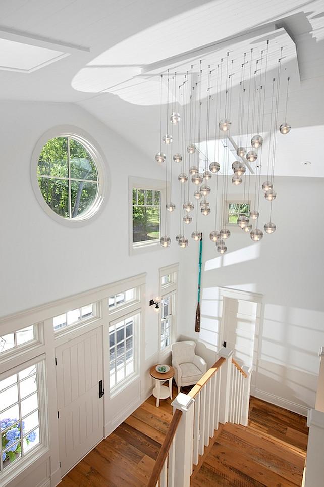 Coastal Foyer Lighting : Transitional coastal home bunch interior design ideas