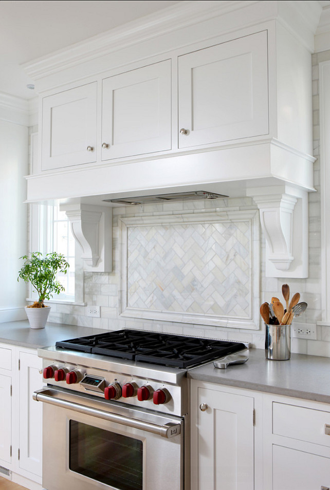 Kitchen Backsplah Ideas. I am loving this marble subway tile backsplash. #Kitchen #Backsplash