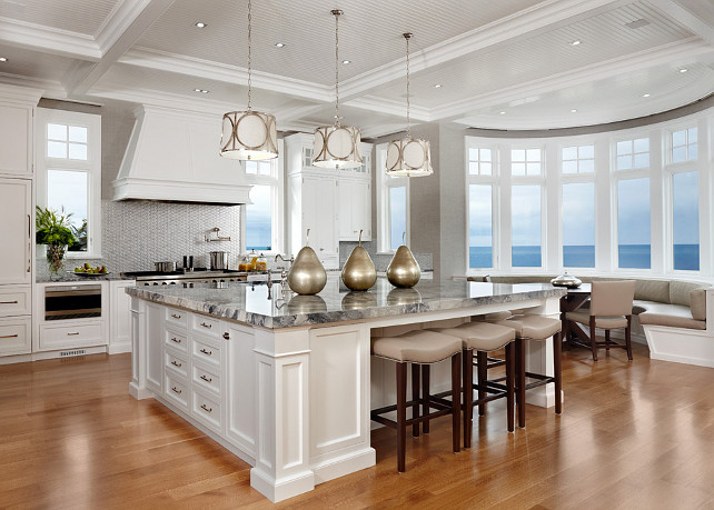 Kitchen Design Ideas With White Appliances ~ Luxury beach house with inspiring coastal interiors home