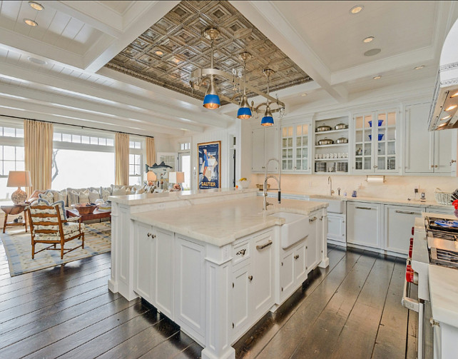Coastal Kitchen Design. Classic Hamptons style Kitchen design. #Kitchen #Coastal #HamptonsKitchen
