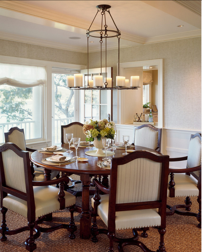 Dining Room Design. I like how casual yet elegant this dining room feels. #DiningRoom