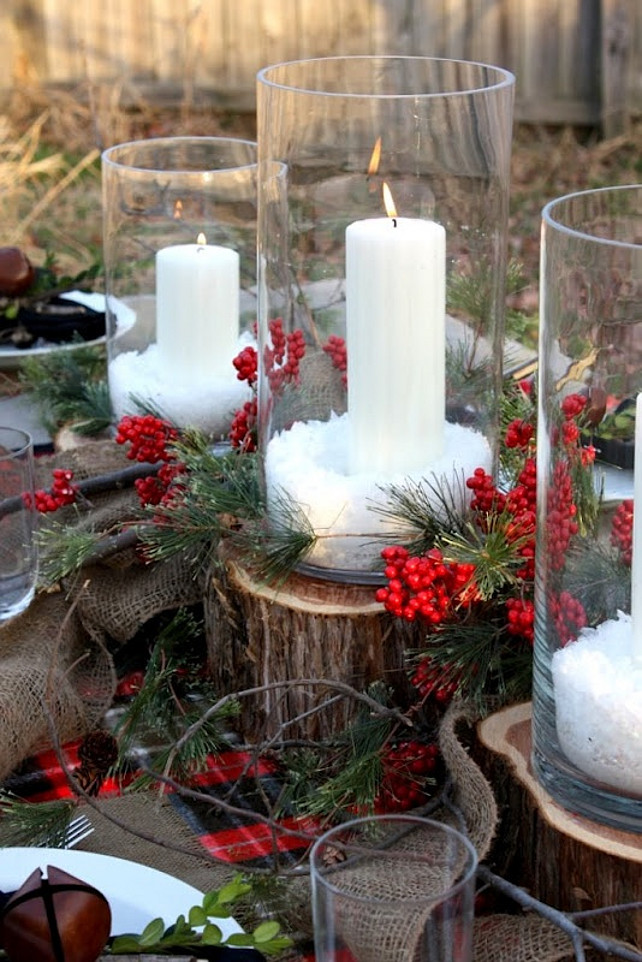 A Natural Christmas Tablescape. Natural Christmas Decor Ideas. Easy Christmas  Decor Ideas. Via