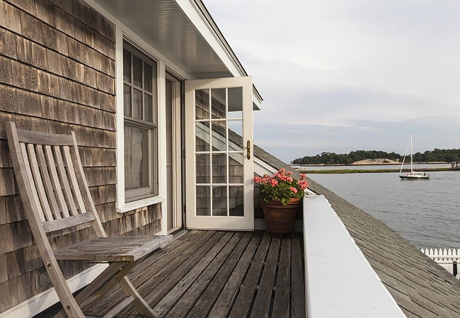 Aged Shingle Exterior Beach House. Aged shingle. Patina Shingle. Christie's Real Estate.
