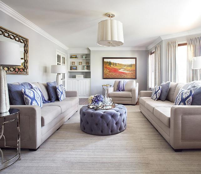Living Room Design. Living Room Ideas. Living room with blue and white decor. #LivingRoom #LivingRoomIdeas #LivingRoomDesign #Blue/whiteDecor