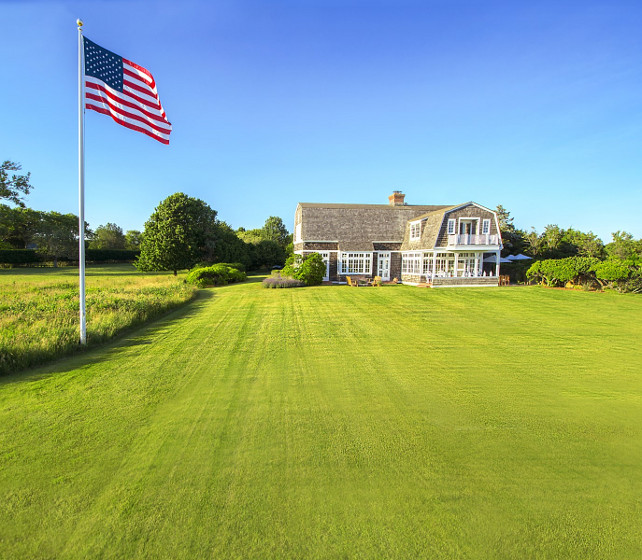 American Flag. House with American Flag. American flag house ideas. #AmericanFlag #American #Falg #House Via Sotheby's Homes.