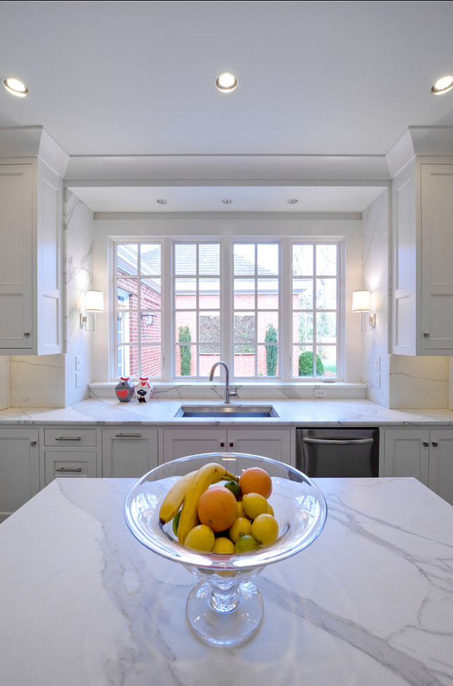 Marble Countertop. White Marble Kitchen Countertop. #Marble #Countertop #kitchen