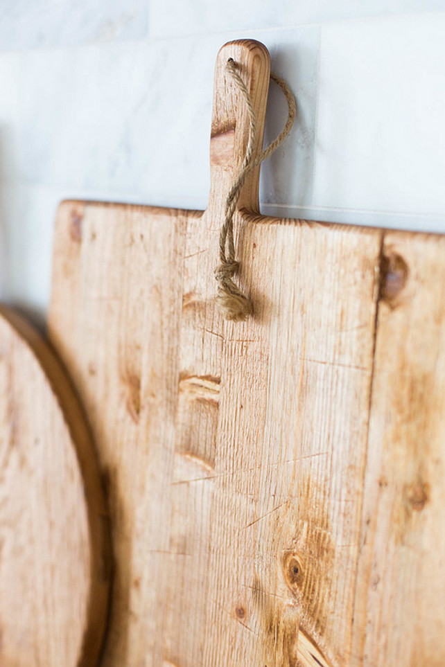 Antique cutting boards. Ashley Winn Design.