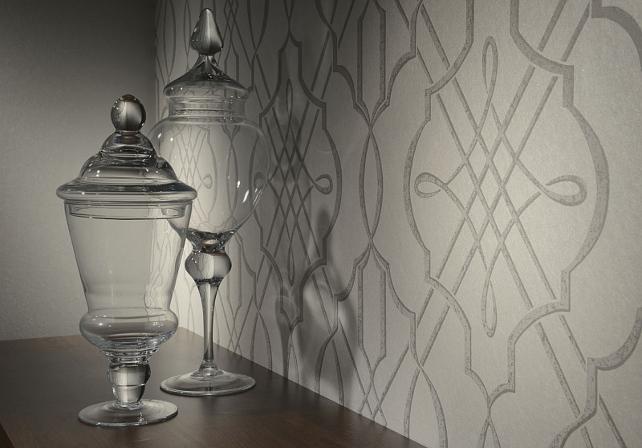 Arabesque Dove Classic Trellis Print Wallpaper #Wallpaper #Arabesque #Trellis Wallpaper